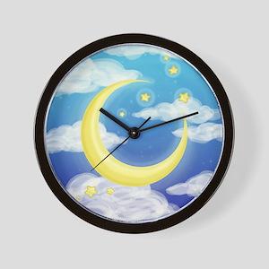Moon Blue Wall Clock