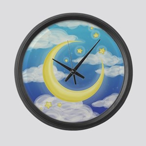 Moon Blue Large Wall Clock