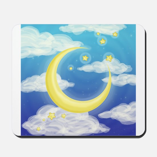 Moon Blue Mousepad