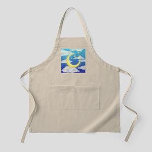 Moon Blue Apron