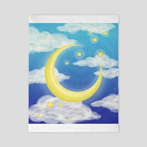 Moon Blue Twin Duvet