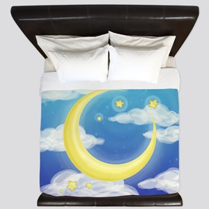 Moon Blue King Duvet