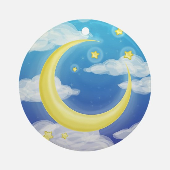 Moon Blue Ornament (Round)