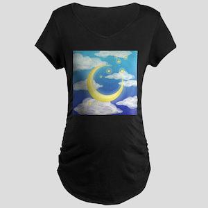 Moon Blue Maternity T-Shirt