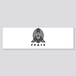 peace black PEACE Sticker (Bumper)