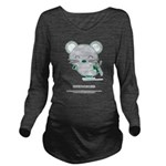 Skating Long Sleeve Maternity T-Shirt