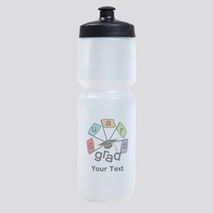 Guard Grad Text Option Sports Bottle