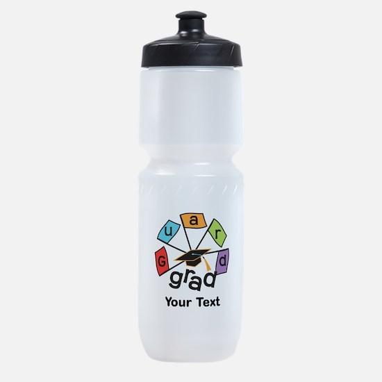 Guard Grad Text Option Sports Bottle
