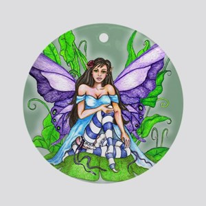 Lily Pad Fairy Ornament (Round)