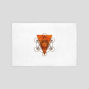 Sacred Pizza Geometry 4' x 6' Rug