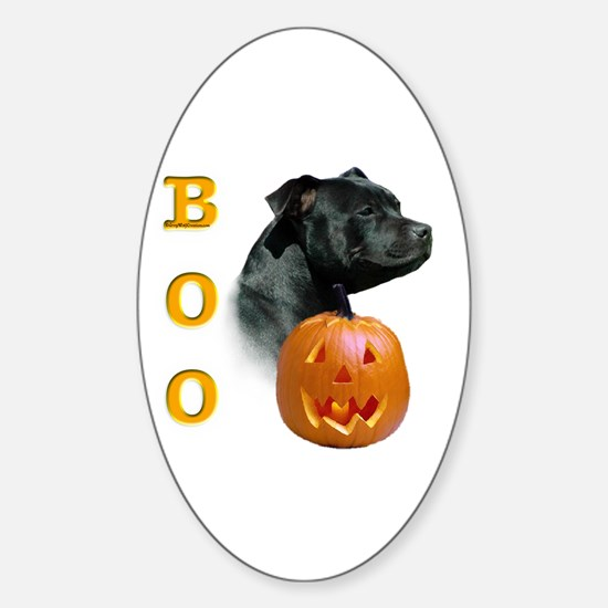 Staffy Boo Oval Decal