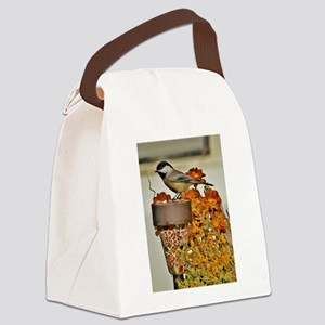 """CHICKADEE STILL-LIFE"" Canvas Lunch Bag"