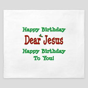 Happy Birthday Jesus King Duvet