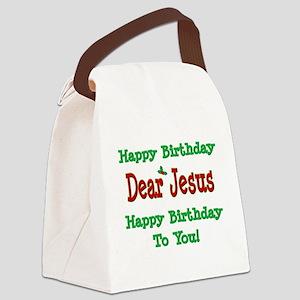 Happy Birthday Jesus Canvas Lunch Bag