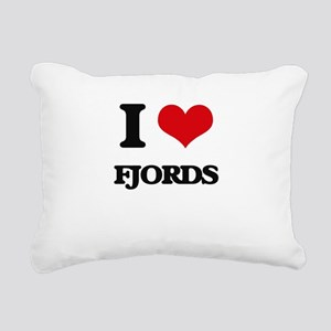 I Love Fjords Rectangular Canvas Pillow