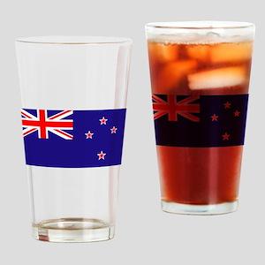 NZ Flag Drinking Glass
