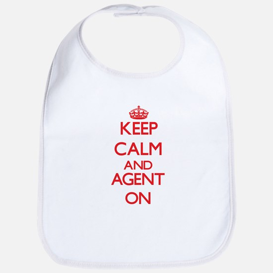 Keep Calm and Agent ON Bib