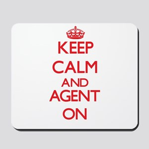 Keep Calm and Agent ON Mousepad