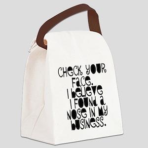 Nosy People Gossip Humor Canvas Lunch Bag
