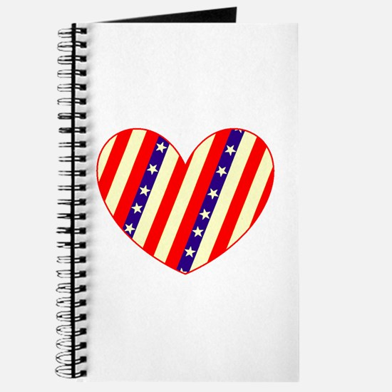 Heart Stars Stripes Amor 23 Designer Journal
