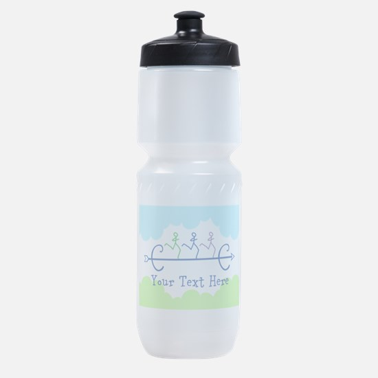 Optional Text Cross Country Running Sports Bottle
