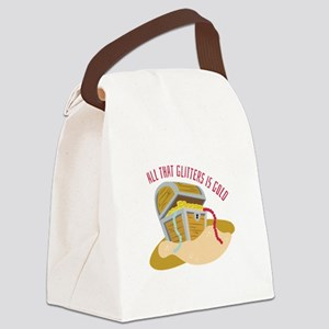 All The Glitters Canvas Lunch Bag