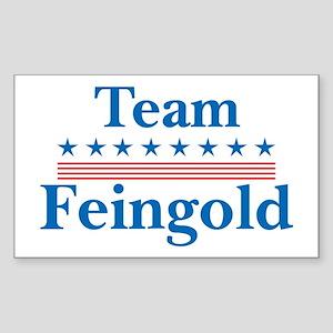 Team Feingold Rectangle Sticker