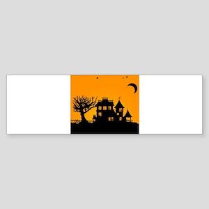 Halloween Manor Bumper Sticker