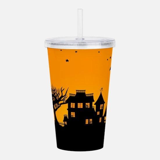 Halloween Manor Acrylic Double-wall Tumbler