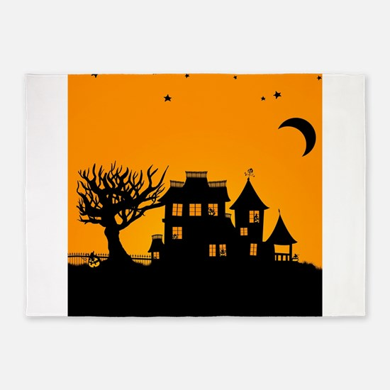 Halloween Manor 5'x7'Area Rug