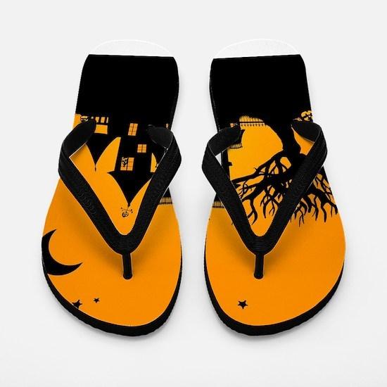 Halloween Manor Flip Flops