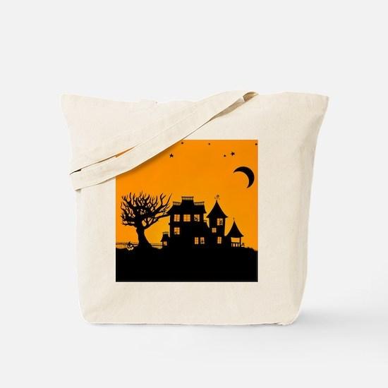 Halloween Manor Tote Bag