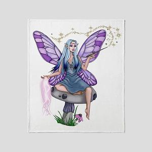 Mushroom Fairy Throw Blanket
