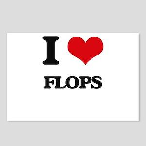I Love Flops Postcards (Package of 8)