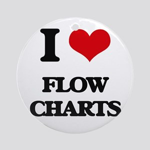 I Love Flow Charts Ornament (Round)