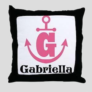 Custom Anchor Monogram G Throw Pillow