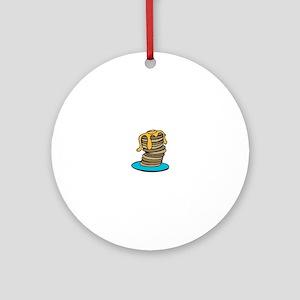 Pancake Stack Ornament (Round)