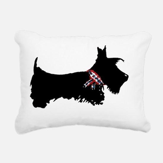 Cute Scottie dog Rectangular Canvas Pillow