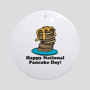 Pancake Day Ornament (Round)
