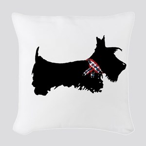 Scottie Dog Woven Throw Pillow