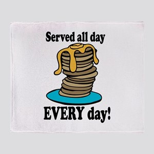 Served All Day Throw Blanket