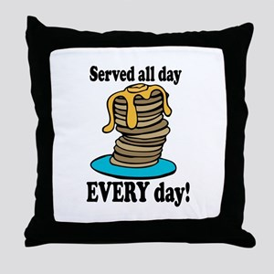 Served All Day Throw Pillow