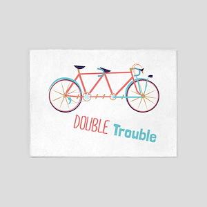 Double Trouble 5'x7'Area Rug