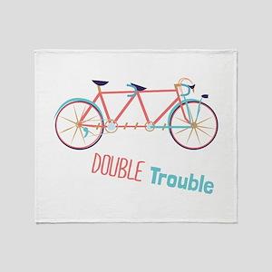 Double Trouble Throw Blanket