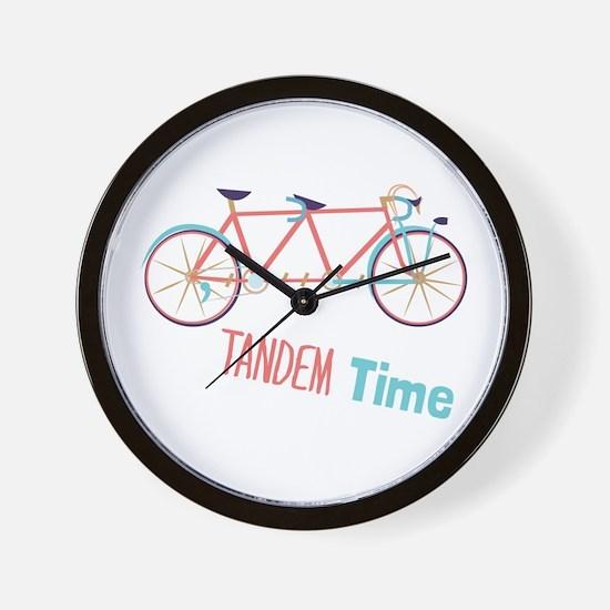 Tandem Time Wall Clock