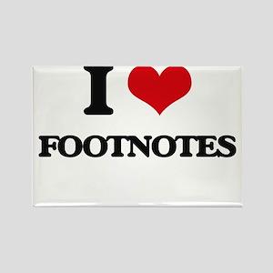 I Love Footnotes Magnets