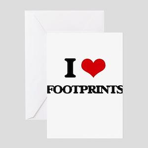 I Love Footprints Greeting Cards