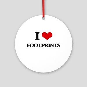 I Love Footprints Ornament (Round)