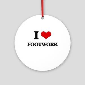 I Love Footwork Ornament (Round)