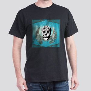 Sugar skull with wings made of metal T-Shirt